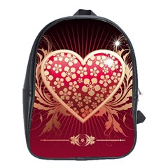 Heart Patterns Lines  School Bag (xl) by amphoto