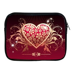 Heart Patterns Lines  Apple Ipad 2/3/4 Zipper Cases by amphoto