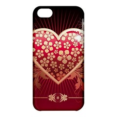 Heart Patterns Lines  Apple Iphone 5c Hardshell Case by amphoto