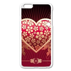 Heart Patterns Lines  Apple Iphone 6 Plus/6s Plus Enamel White Case by amphoto