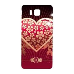 Heart Patterns Lines  Samsung Galaxy Alpha Hardshell Back Case by amphoto