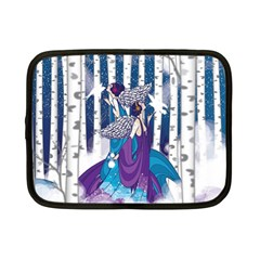 Girl Forest Trees Netbook Case (small)  by amphoto