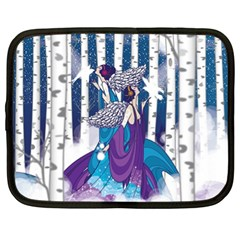 Girl Forest Trees Netbook Case (xl)  by amphoto