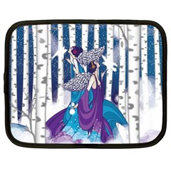 Girl Forest Trees Netbook Case (xxl)  by amphoto