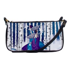 Girl Forest Trees Shoulder Clutch Bags by amphoto