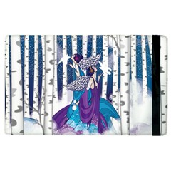 Girl Forest Trees Apple Ipad 3/4 Flip Case by amphoto
