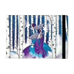 Girl Forest Trees Apple Ipad Mini Flip Case by amphoto