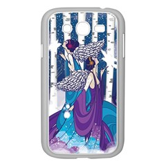 Girl Forest Trees Samsung Galaxy Grand Duos I9082 Case (white) by amphoto