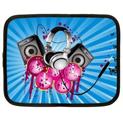 Speakers Headphones Colorful  Netbook Case (xxl)  by amphoto