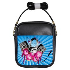 Speakers Headphones Colorful  Girls Sling Bags by amphoto
