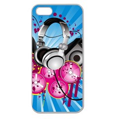 Speakers Headphones Colorful  Apple Seamless Iphone 5 Case (clear) by amphoto