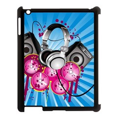 Speakers Headphones Colorful  Apple Ipad 3/4 Case (black) by amphoto