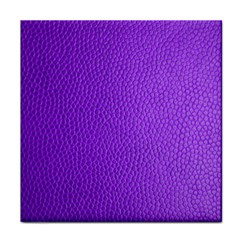 Purple Skin Leather Texture Pattern Tile Coasters by paulaoliveiradesign