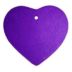 Purple Skin Leather Texture Pattern Ornament (heart) by paulaoliveiradesign