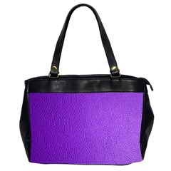 Purple Skin Leather Texture Pattern Office Handbags (2 Sides)  by paulaoliveiradesign