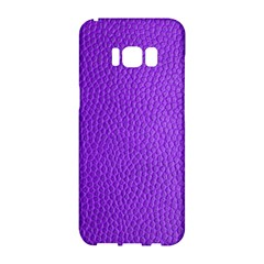 Purple Skin Leather Texture Pattern Samsung Galaxy S8 Hardshell Case