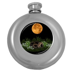 Ecology  Round Hip Flask (5 Oz) by Valentinaart