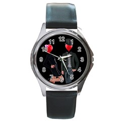 Love Round Metal Watch