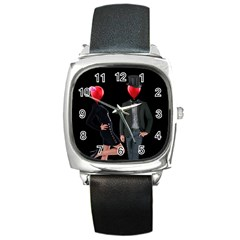 Love Square Metal Watch