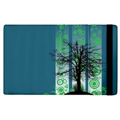Tree Circles Lines  Apple Ipad 3/4 Flip Case by amphoto