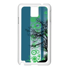 Tree Circles Lines  Samsung Galaxy Note 3 N9005 Case (white) by amphoto