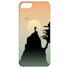 Cliff Mountain Tree  Apple Iphone 5 Classic Hardshell Case by amphoto