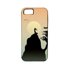 Cliff Mountain Tree  Apple Iphone 5 Classic Hardshell Case (pc+silicone) by amphoto