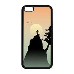 Cliff Mountain Tree  Apple Iphone 5c Seamless Case (black) by amphoto