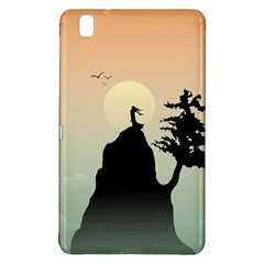 Cliff Mountain Tree  Samsung Galaxy Tab Pro 8 4 Hardshell Case by amphoto