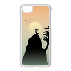 Cliff Mountain Tree  Apple Iphone 7 Seamless Case (white) by amphoto