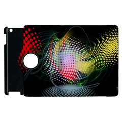 Colorful Lines Dots  Apple Ipad 3/4 Flip 360 Case by amphoto