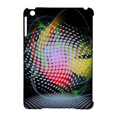 Colorful Lines Dots  Apple Ipad Mini Hardshell Case (compatible With Smart Cover) by amphoto