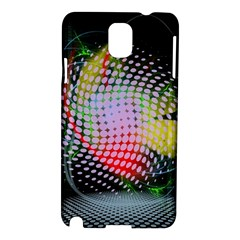 Colorful Lines Dots  Samsung Galaxy Note 3 N9005 Hardshell Case by amphoto