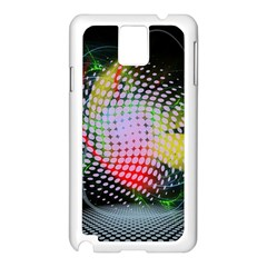 Colorful Lines Dots  Samsung Galaxy Note 3 N9005 Case (white) by amphoto