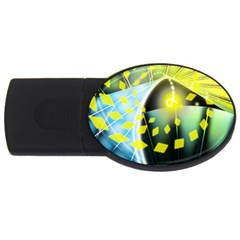Line Light Form  Usb Flash Drive Oval (2 Gb) by amphoto