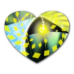 Line Light Form  Heart Mousepads by amphoto