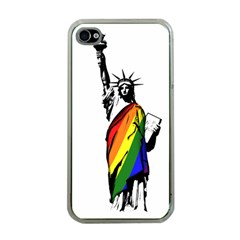 Pride Statue Of Liberty  Apple Iphone 4 Case (clear)