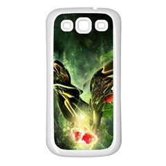 Leaves Explosion Line  Samsung Galaxy S3 Back Case (white) by amphoto