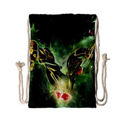 Leaves Explosion Line  Drawstring Bag (small) by amphoto