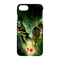Leaves Explosion Line  Apple Iphone 7 Hardshell Case by amphoto