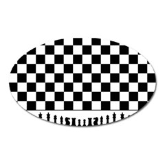 Chess  Oval Magnet