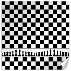 Chess  Canvas 12  X 12   by Valentinaart