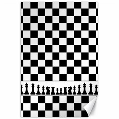 Chess  Canvas 24  X 36  by Valentinaart