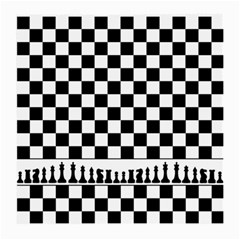 Chess  Medium Glasses Cloth (2 Side) by Valentinaart