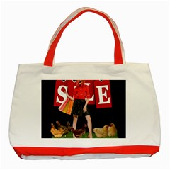 Sale Classic Tote Bag (red) by Valentinaart