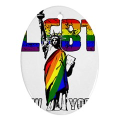 Lgbt New York Ornament (oval) by Valentinaart