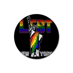 Lgbt New York Rubber Round Coaster (4 Pack)  by Valentinaart
