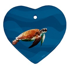 Sea Turtle Ornament (heart) by Valentinaart