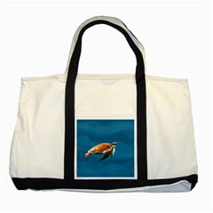 Sea Turtle Two Tone Tote Bag by Valentinaart
