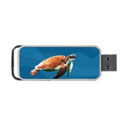 Sea Turtle Portable Usb Flash (two Sides) by Valentinaart